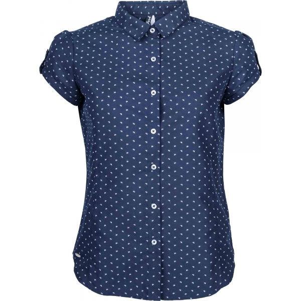 Modrá dámská košile s krátkým rukávem Willard