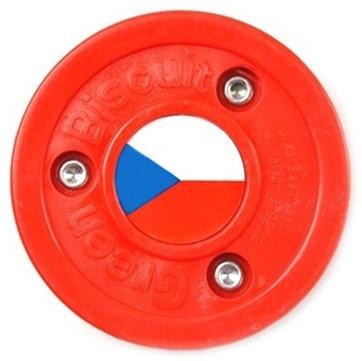 Červený hokejový puk off - ice Green Biscuit
