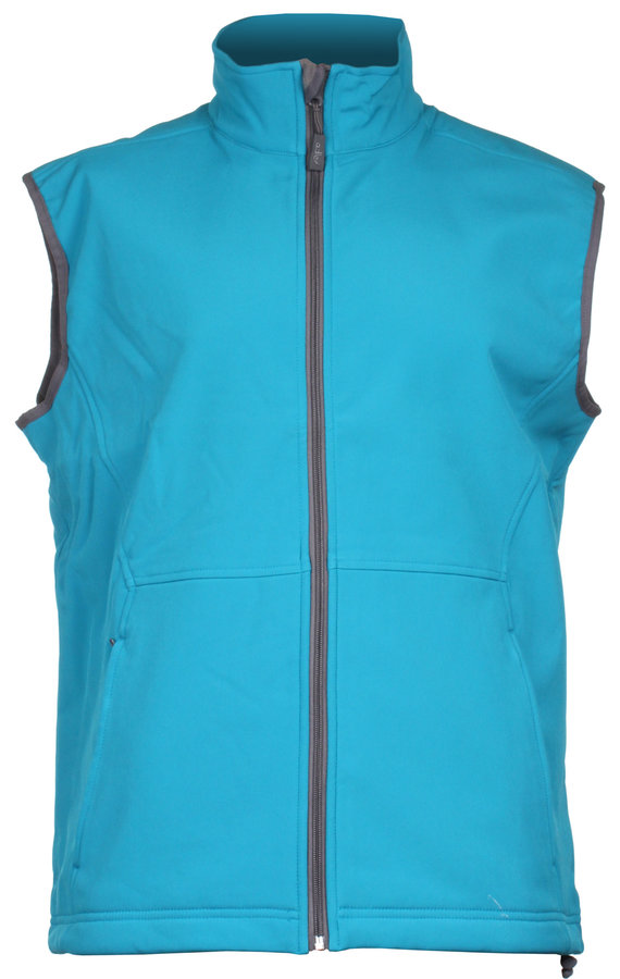 Modrá softshellová pánská vesta Adler - velikost M