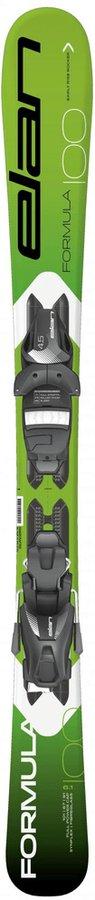 Zelené dětské lyže s vázáním Elan - délka 80 cm