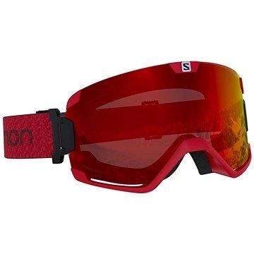 Červené lyžařské brýle Salomon