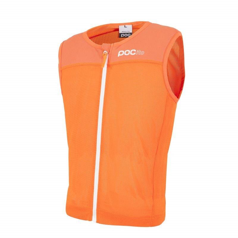 Oranžový chránič páteře na lyže POC - velikost L