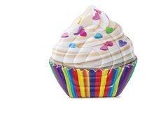 Různobarevné nafukovací lehátko Cupcake INTEX - délka 142 cm a šířka 135 cm