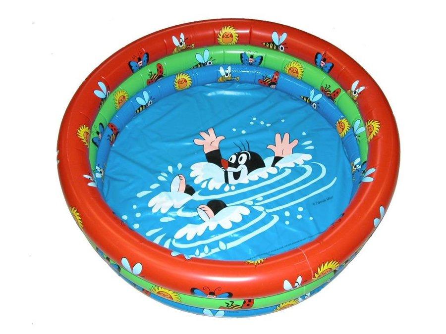 Nadzemní nafukovací dětský kruhový bazén - průměr 122 cm a výška 20 cm