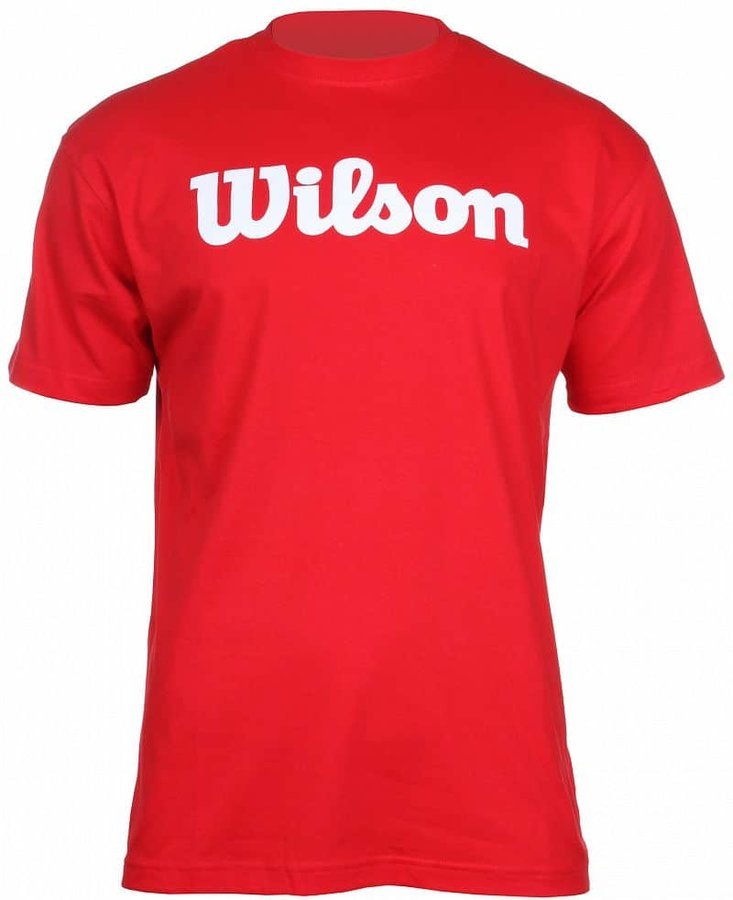 Červené pánské tenisové tričko Wilson - velikost L