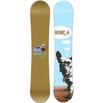 Hnědo-modrý snowboard bez vázání ROBLA