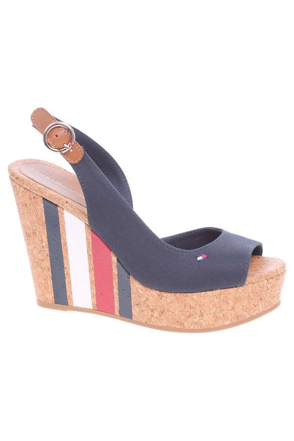 Modré sandály Tommy Hilfiger
