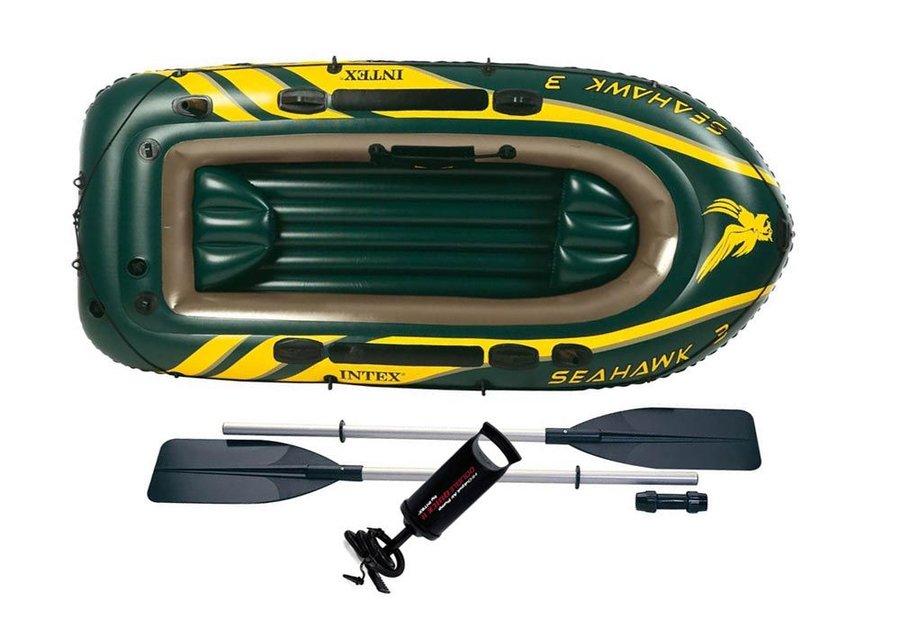 Zelený nafukovací člun pro 3 osoby INTEX