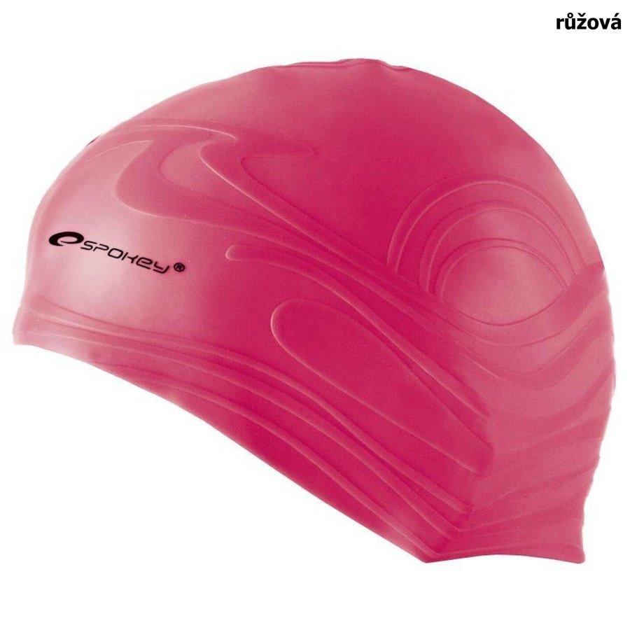 Růžová pánská nebo dámská plavecká čepice SHOAL, Spokey
