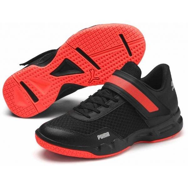 Černé dětské boty na volejbal Puma