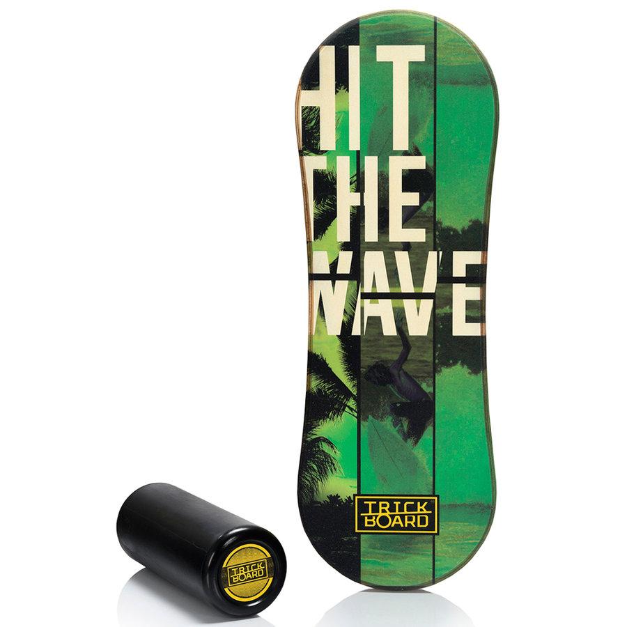 Černo-zelená balanční deska TrickBoard