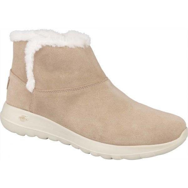 Hnědé dámské zimní boty Skechers - velikost 38 EU