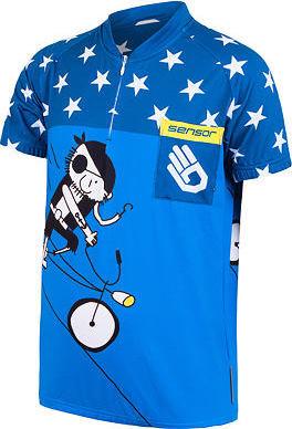 Modrý dětský cyklistický dres Sensor