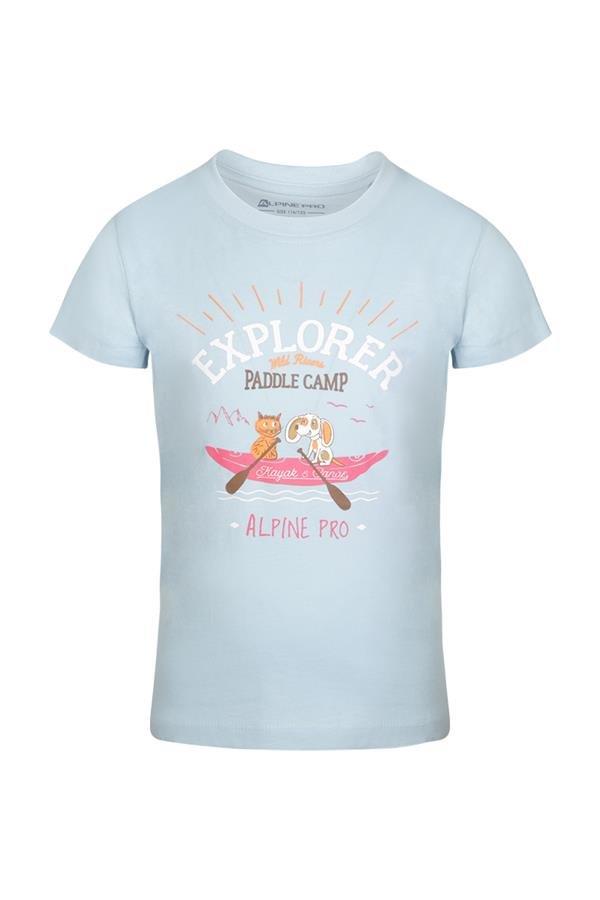 Modré turistické tričko s krátkým rukávem Alpine Pro - velikost 104-110