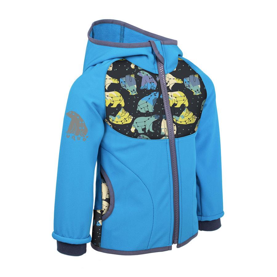 Modrá softshellová dětská bunda Unuo - velikost 122