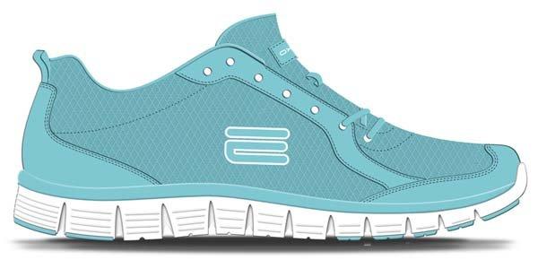 Modré dámské běžecké boty flex V5, Oxide - velikost 36 EU