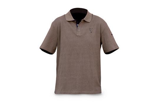 Hnědé pánské rybářské tričko International Polo, Fox International - velikost S