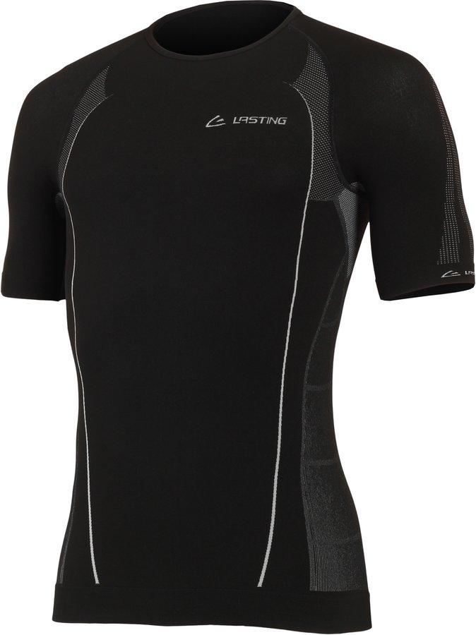 Černé pánské tričko s krátkým rukávem Lasting - velikost XS