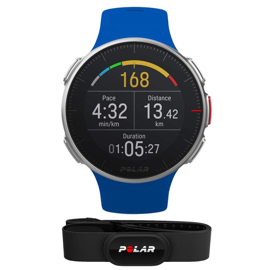 Modré sportovní chytré hodinky Vantage V HR, Polar
