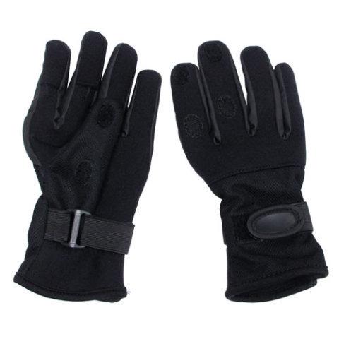 Černé neoprenové rukavice MESH, MFH int. comp
