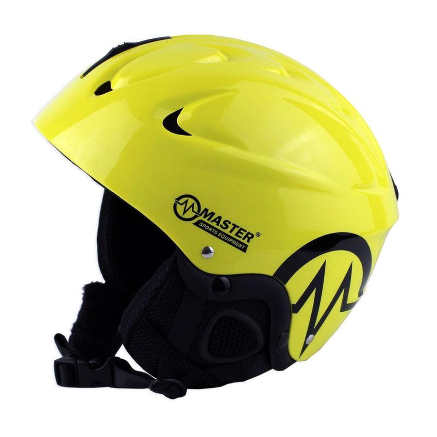 Žlutá lyžařská helma Master
