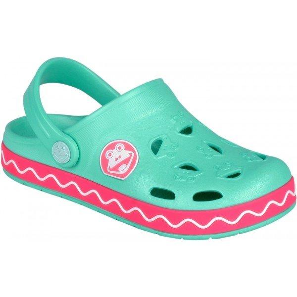 Zelené dětské sandály Coqui
