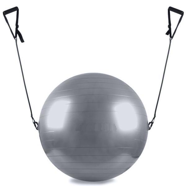 Červený gymnastický míč s gumovými expandéry Sedco - průměr 75 cm