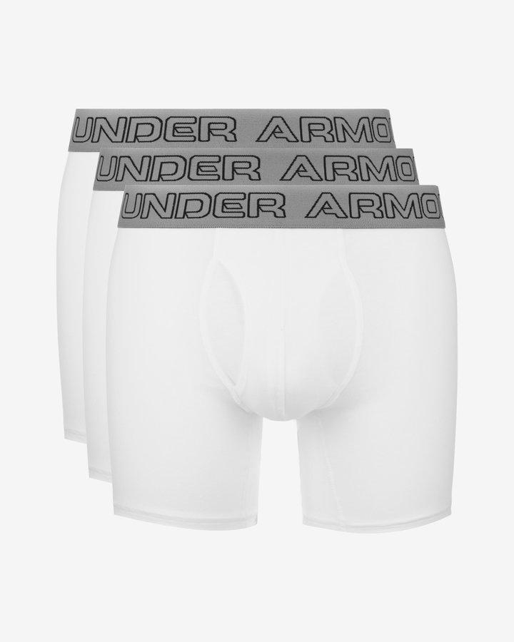 Bílé pánské boxerky Under Armour - 3 ks