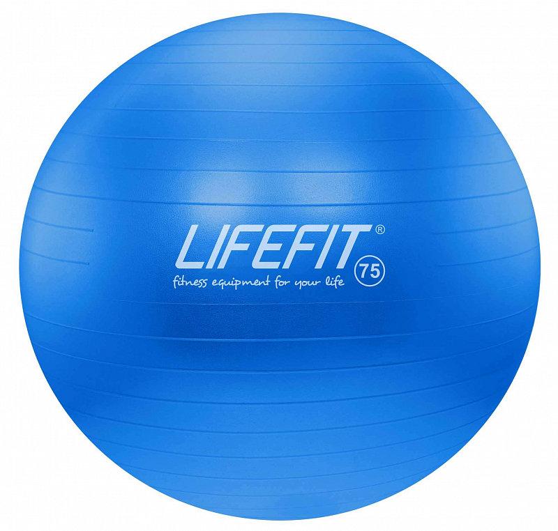 Modrý gymnastický míč ANTI-BURST, Lifefit - průměr 75 cm