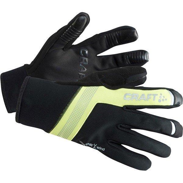 Černo-žluté zimní dámské cyklistické rukavice Craft