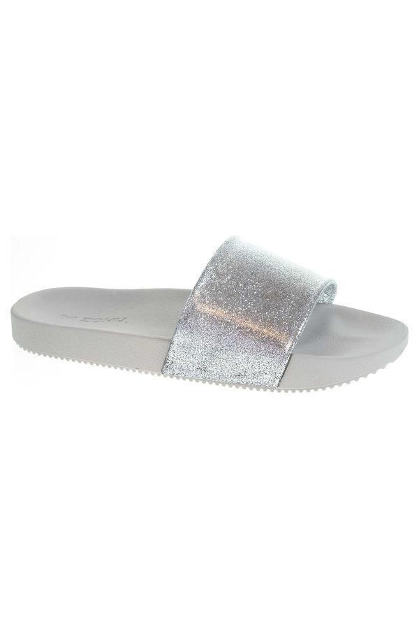 Stříbrné dámské pantofle Zaxy - velikost 39 EU