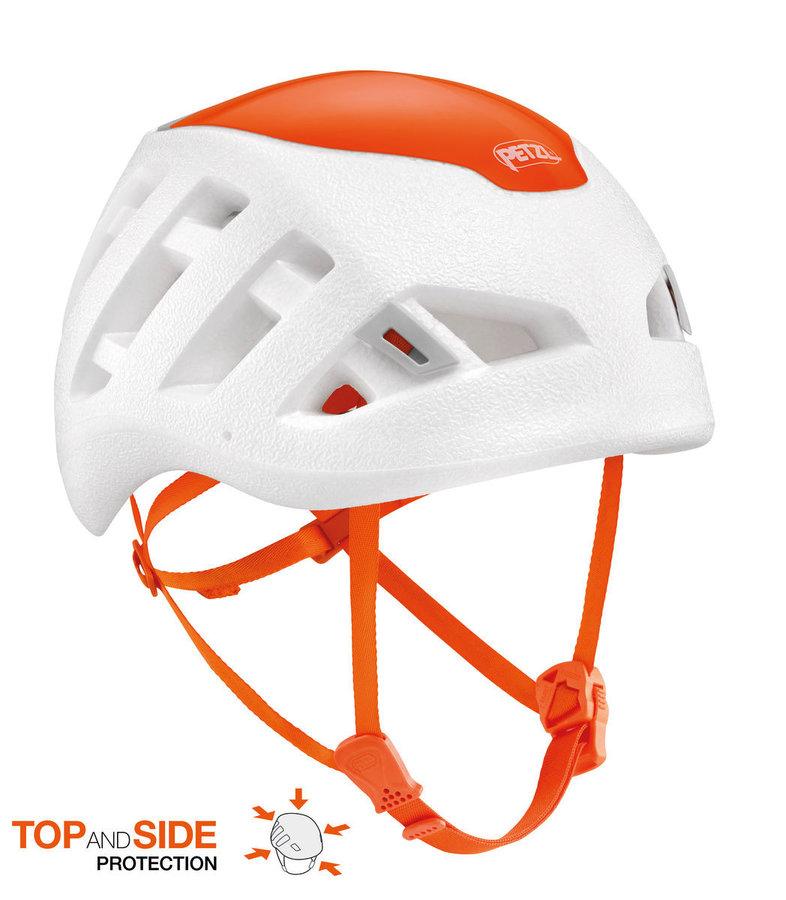 Bílá dámská horolezecká helma Petzl
