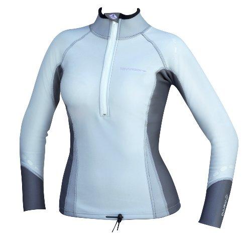 Bílo-šedé dámské funkční tričko s dlouhým rukávem LC
