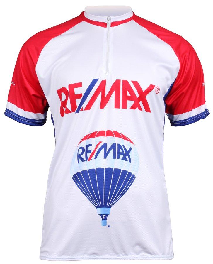 Bílo-červený pánský cyklistický dres Merco