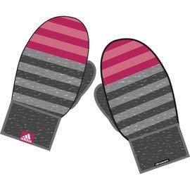 Růžovo-šedé zimní rukavice Adidas
