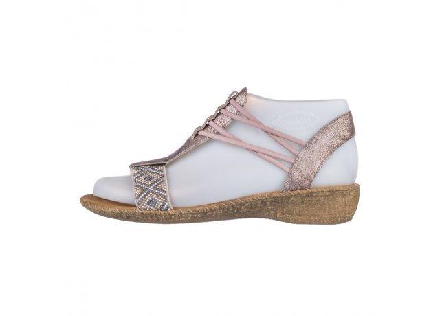 Růžové sandály Rieker
