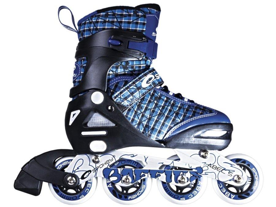 Modré in-line kolečkové brusle Baffies, Spokey - velikost 31-34 EU
