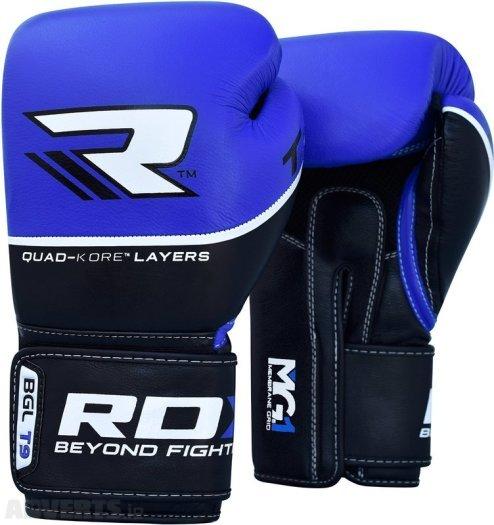 Boxerské rukavice - RDX Boxerské rukavice T-9 (MODRÉ) váha: 10