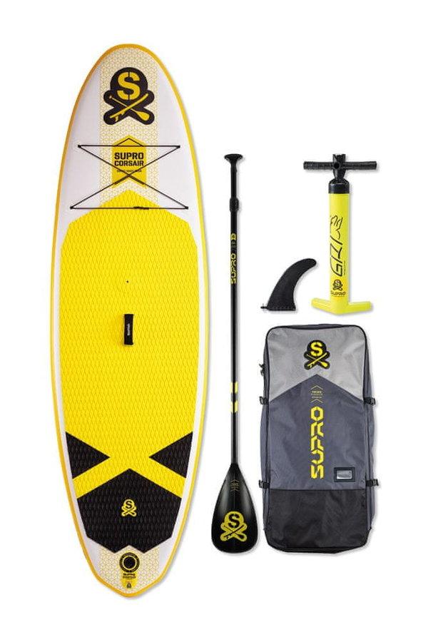 """Paddleboard - Supro Nafukovací paddleboard CorsAIR All-round 9' 8"""" premiový , s novou dvouvrstvou technologií a s možností oplachtění/windsurfingu. 2v1"""