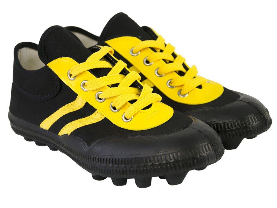 Černo-žluté kopačky lisovky Sedco