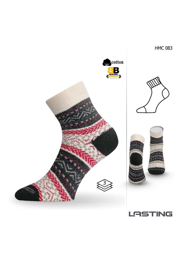 Různobarevné dámské trekové ponožky Lasting - velikost 42-45 EU