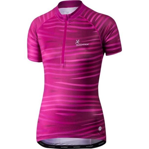 Růžový dámský cyklistický dres Klimatex