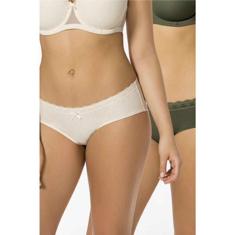 Kalhotky - Sada kalhotek Dorina D00969X - barva:DOROX87/slonová kost / zelená, velikost:S
