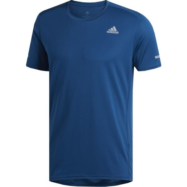 Modré pánské běžecké tričko Adidas