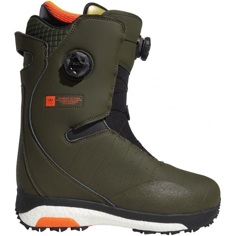 Zelené pánské boty na snowboard Adidas