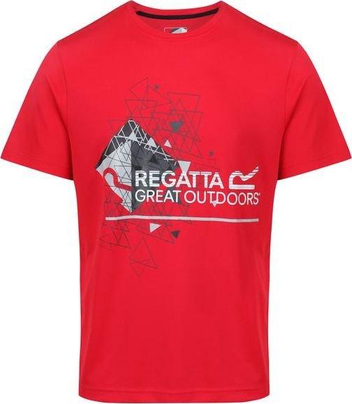 Červené pánské tričko s krátkým rukávem Regatta - velikost S