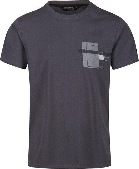 Šedé pánské tričko s krátkým rukávem Regatta - velikost S