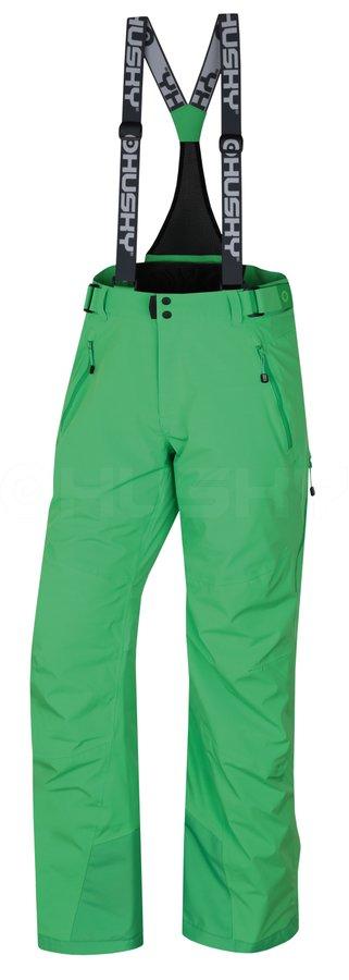 Zelené pánské lyžařské kalhoty Husky - velikost XXL