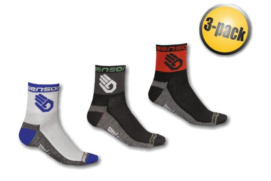 Černé, bílé nebo šedé pánské ponožky Ruka, Sensor - velikost 35-38 EU - 3 ks