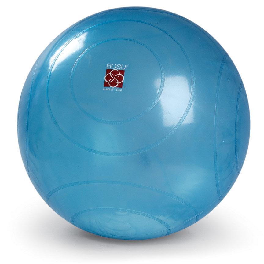 Modrý gymnastický míč s pumpou BOSU - průměr 65 cm